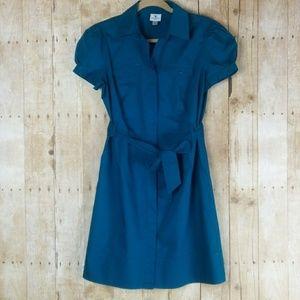 Worthington Marine Blue Shirt Dress Size 10